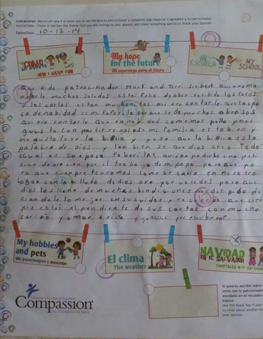 ericka letter